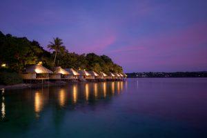 Waterside villas at Iririki Island Resort Vanuatu - Corporate Business Photography